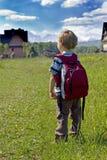 гора мальчика Стоковая Фотография