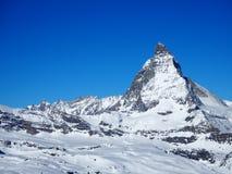 Гора Маттерхорна в Швейцарии, апреле 2015 стоковое изображение rf