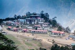 Гора монастыря Tengboche, взгляд от горы стоковые фото