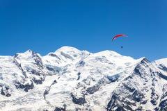 Гора Монблана Стоковое фото RF