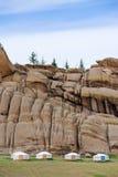гора Монгол jurts ноги Стоковые Фото