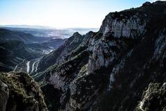 Гора Монтсеррата в Барселоне, Испании Стоковая Фотография RF