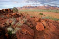 гора Намибия ландшафта пустыни brandberg Стоковые Изображения RF