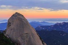 Гора национального парка Bukhansan Стоковые Изображения RF