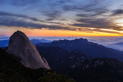 Гора национального парка Bukhansan Стоковое Фото