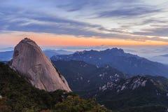 Гора национального парка Bukhansan стоковые фото