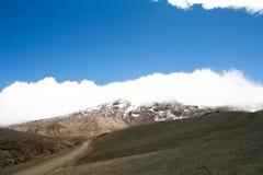 Гора на верхней части горы Ruiz стоковое изображение rf