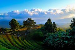 гора над восходом солнца ряда Стоковые Фотографии RF