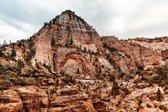Гора на Сионе, США Стоковая Фотография RF