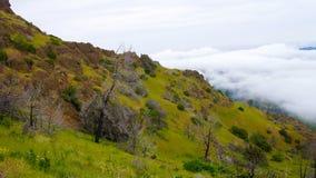 Гора над clould стоковое фото