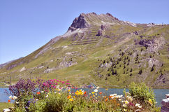Гора на Tignes в Франции Стоковое Изображение RF