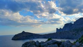 Гора & небо Стоковые Изображения