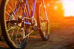 гора дня велосипеда солнечная Стоковые Фото