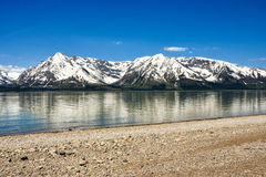 гора озера пляжа утесистая Стоковое Изображение RF