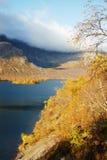 гора озера пущи свободного полета осени Стоковые Изображения