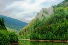 гора озера Стоковое Изображение