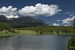гора озера colorado стоковая фотография