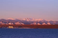 гора озера colorado стоковое фото rf