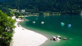 Гора озера Molveno Стоковая Фотография
