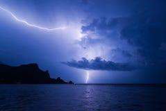 гора освещения кота сверх Стоковое Изображение RF