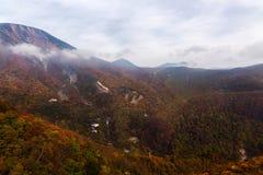 Гора осени в Nikko Стоковое Фото