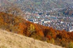 Гора осени прикарпатская, Rakhiv, Украина Стоковые Фотографии RF