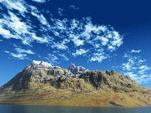 гора острова Стоковая Фотография RF