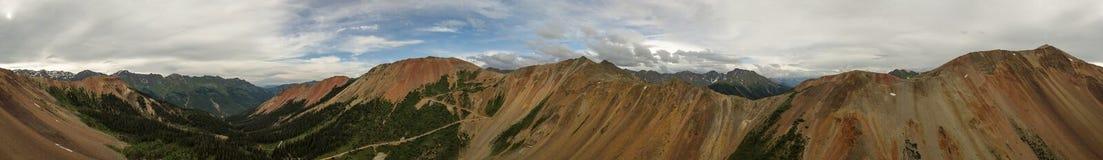 Гора отсутствие пропуска оврага штопора красная антенны 1 Колорадо Стоковое Изображение