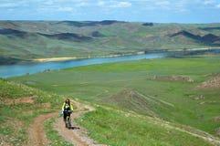 гора приключения велосипед Стоковые Фотографии RF