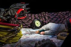 Гора рискует - планирование подъема к Маттерхорну Стоковое Фото