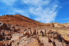 Гора Синай в утре Стоковое Изображение