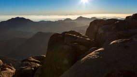 Гора Синай, держатель Моисей в Египте Стоковое Изображение RF