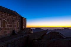 Гора Синай, держатель Моисей в Египте Стоковое Изображение