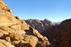 Гора Синай - Египет Стоковые Изображения RF