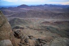 Гора Синай перед рассветом Стоковые Фото