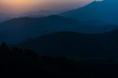 Гора силуэта Стоковые Фотографии RF