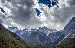 Гора снежка дракона нефрита Стоковые Фото