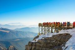 Гора снежка дракона нефрита стоковая фотография