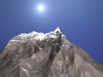 гора снежная иллюстрация вектора