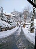 гора снежная Стоковое Изображение RF