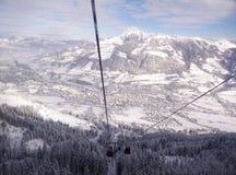 гора снежная Стоковая Фотография RF