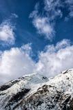 гора снежная Стоковое Фото