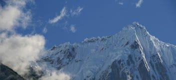 гора снежный Тибет Стоковые Изображения RF