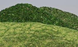 Гора сломленного стекла Стоковое Фото