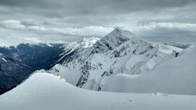 Гора с снежком Стоковые Изображения