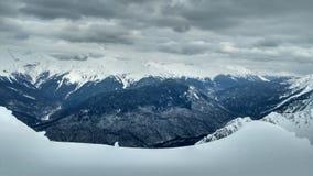 Гора с снежком Стоковые Фотографии RF