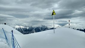 Гора с снежком Стоковая Фотография