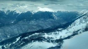 Гора с снежком Стоковое Изображение