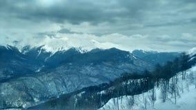 Гора с снежком Стоковые Изображения RF