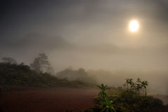 гора тумана сверх Стоковое Изображение